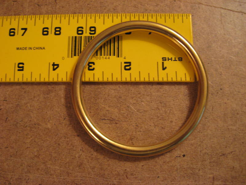 "3"" Solid Brass O Rings SCA"