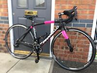 Women's pinarello Full Carbon Road Bike Razha black / pink 105 mix small