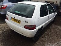 Citroen saxo 1.5 diesel sold with 12 months mot