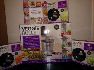 Veggie Bullet 3-in-1 food processor, spiralizer, slicer  (BNIB)