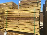 🔨Pressure Treated Feather Edge Wooden Fencing Pieces: Boards: Panels • Various Sizes🌳