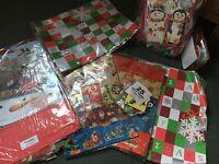 Job Lot 160+ Piece Christmas Gift Wrap, Bag, Ribbon and More Set