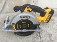 18v cordless 165mm saw
