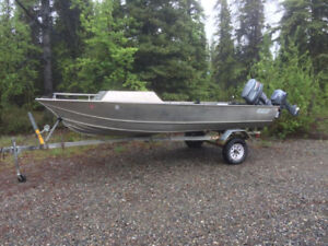 17' Welded Hull with Two Yamaha Outboards