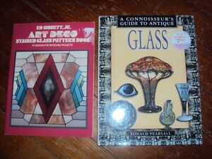 Stained Glass Pattern Book and Connoisseurs Guide, both for $5