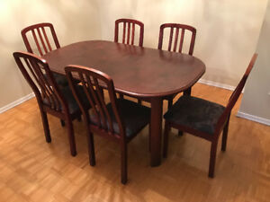 SOLID WOOD TABLE AND CHAIRS SET