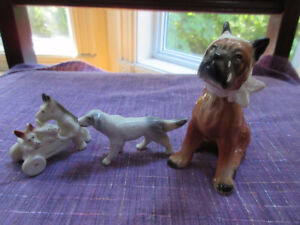 3 Antique dog miniatures - Occupied Japan