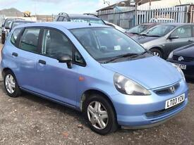 2003/03 Honda Jazz 1.4i-DSI S LONG MOT 1 OWNER EXCELLENT RUNNER