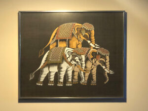 Three Elephants Indian Style Artwork Painting