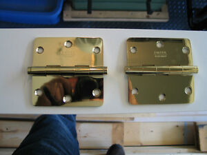 Emtek Solid Polished Brass Hinges