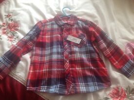 Boys shirt age 3-4 new with tags