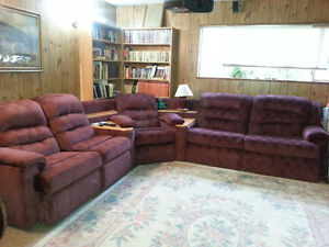 3 piece sectional: recliners/sofa bed