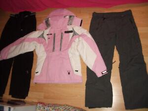 """NEW --- ski suit """" SPIDER """" jacket + snow pants -- size  M lady"""