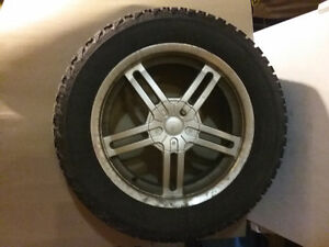 Set of 4 Winter tires on Ford rims