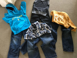 Lot boys designer size 6 h&m jeans and tops