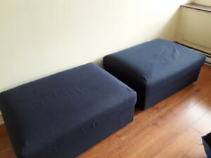 Navy Blue Ottoman(s) for sale (Ikea)
