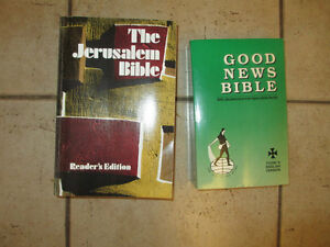 2 Bibles, 1 New International version (kids edition), crucifix