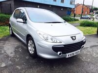 PEUGEOT 307 1.4 S, 5 DOOR HATCH, 60K MILEAGE ONLY