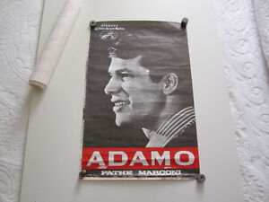 Ancienne affiche (poster) de spectacle Adamo