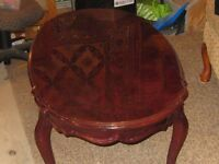 Authentic solid cherry coffee table set