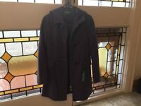 Benetton purple/mauve duffle coat, brand new with label