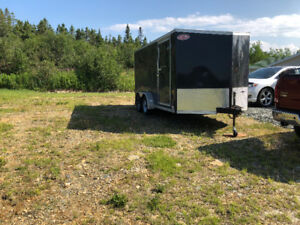 2017 enclosed utility trailer 14' + V nose,