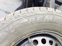 Studded winter tires 205/65R 15