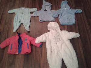 3-6 MONTHS BOYS CLOTHES AND OUTERWEAR.