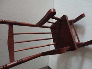 Handmade solid wooden decorative rocking chair for display London Ontario image 6
