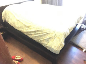 Queen Platform bed w/ 2 marching side tables