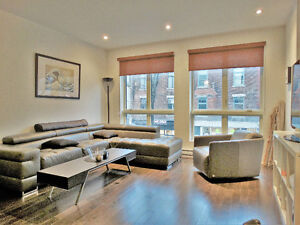 Luxury loft style condo, furnished, 2 bdrms, terrace , Plateau,