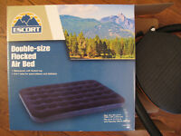 Used once Double Sized mattress and pump