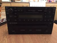 Genuine vw double din cassette/cd player