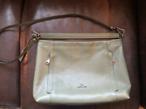 Sage green Coach purse