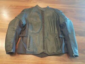 Women's Motorcycle Leather jacket XL