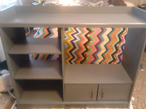 Grey TV Stand- used Fusion Paint. In really good shape!