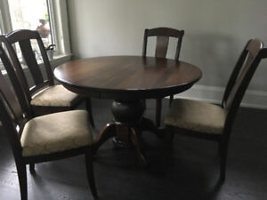 Kitchen Table .. six chairs