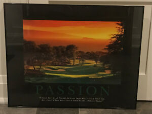Framed Picture of a Golf Course