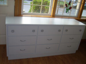 NEWLY PAINTED TRIPLE DRESSER