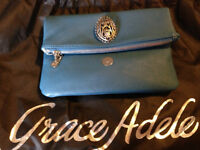 NEW Grace ADele Clutch with shoulder strap and medallion