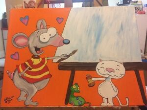 Home made painting of Toopy and Binoo. Name can be add.