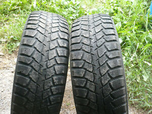 Two 215-65-16 snow tires $70.00