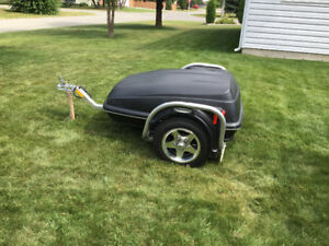 motorcycle  trailer and gear