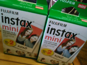2 double packs of instax mini film