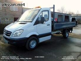 2010 10 MERCEDES SPRINTER, LWB,130-BHP, ALLOY DROPSIDE, FSH, PICK UP, 1 OWNER