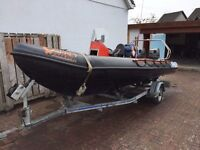 RIB 5.2m Osprey Sparrowhawk with twin Suzuki 40hp engines