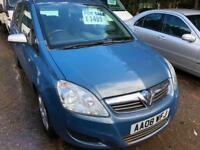 Vauxhall/Opel Zafira 1.6 16v ( 105ps ) 2008MY Exclusive 08 Reg mot may 2019