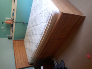 Used captains bed with mattress.