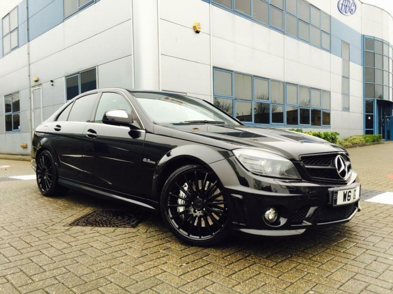 2008 08 mercedes benz c63 amg 6 3 7g tronic f1 paddle black saloon 19 alloy in watford. Black Bedroom Furniture Sets. Home Design Ideas