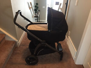 Peg Perego Book Pop Up stroller with Bassinet - Onyx